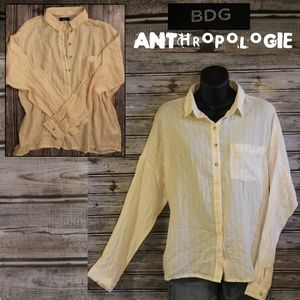 Slouchy Button Down Shirt by BDG for Anthropologie